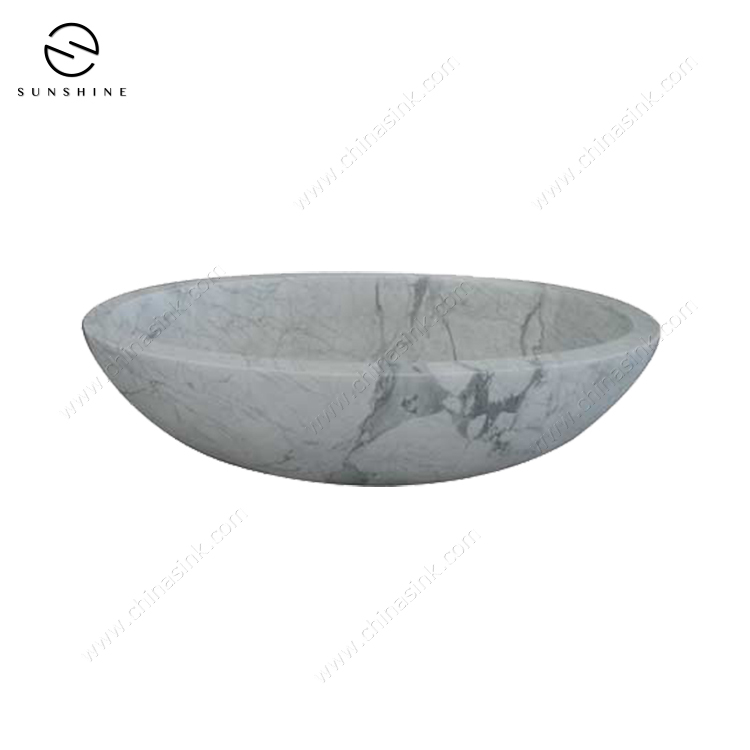 Modern Design Natural Stone Free Standing Marble Bathtub BT-029A-CARA - copy