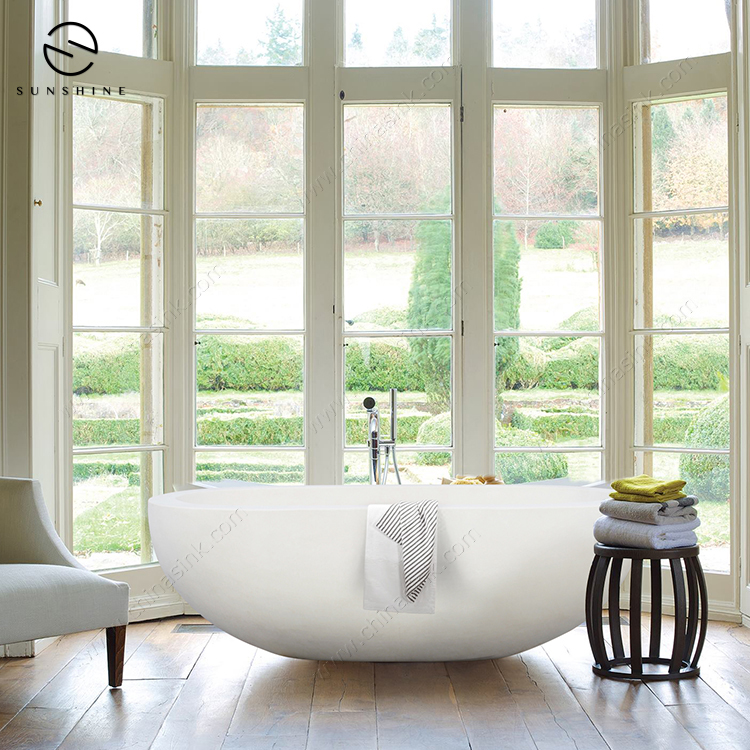 Wholesale Unique Natural Limestone Marble Freestanding Bath Tub